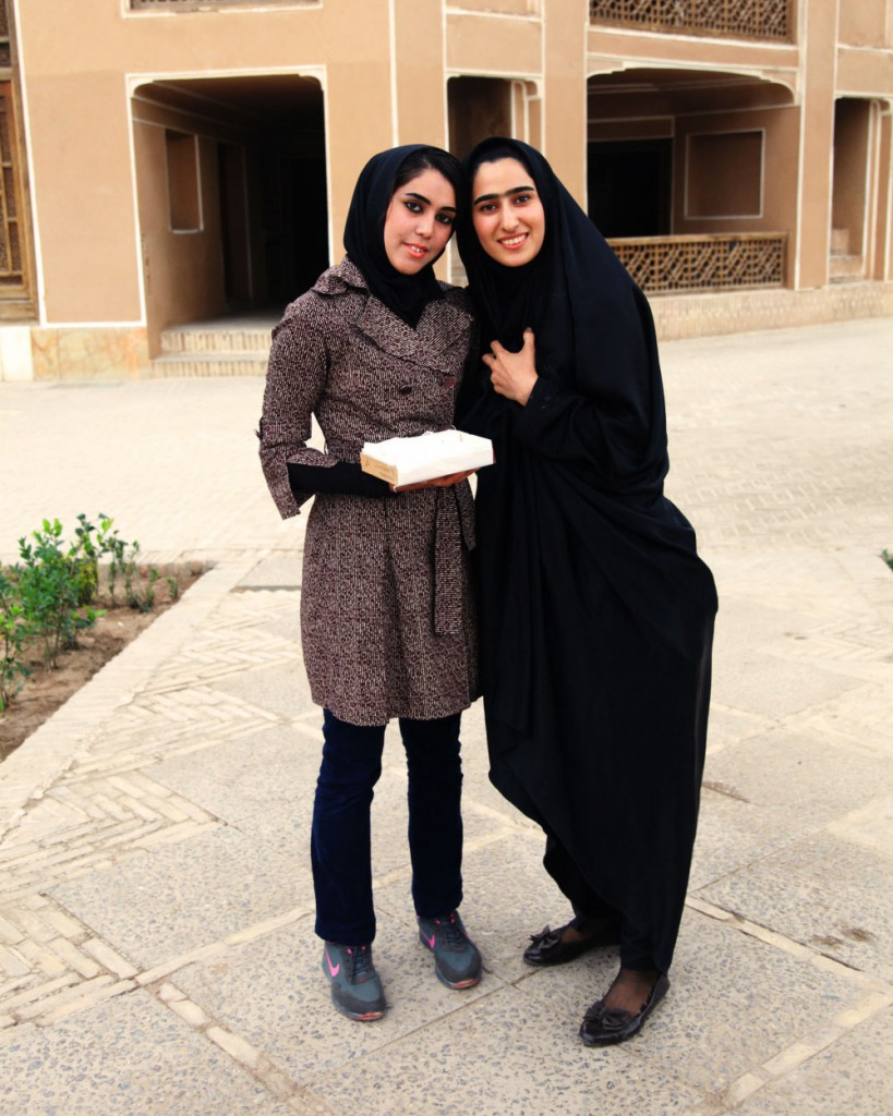 Iranian tourists in Yazd: many western visitors are surprised at how self-confident and outgoing young women often are.