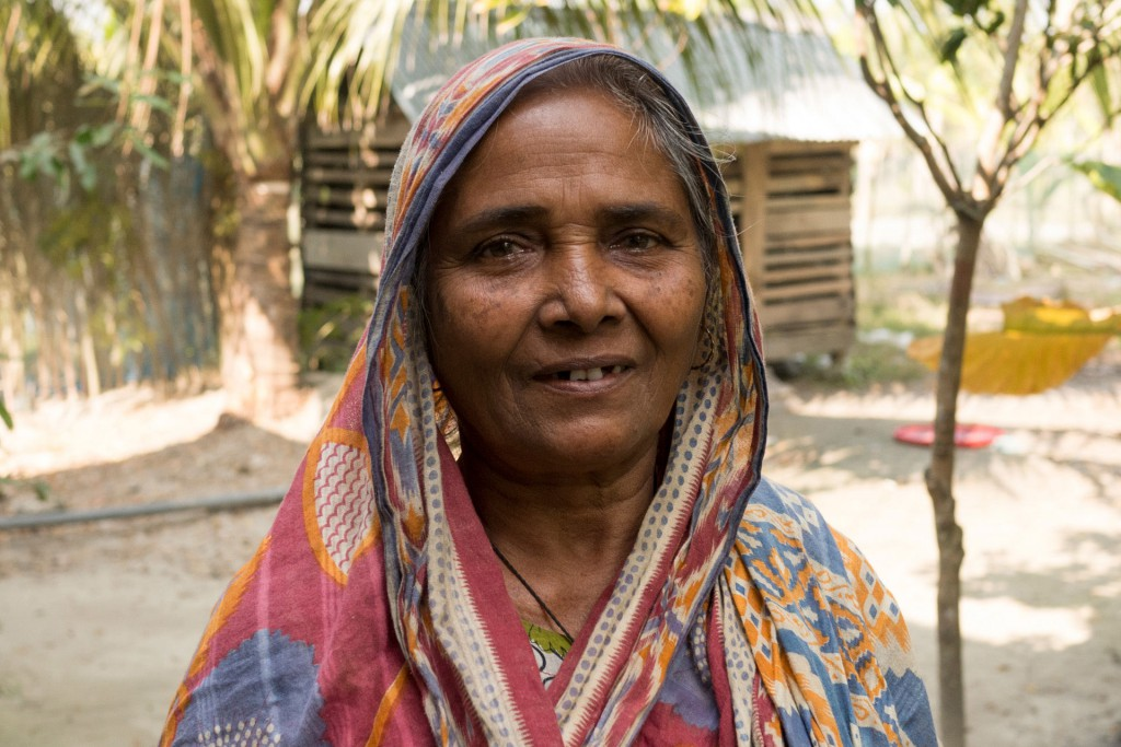 and her mother. It's common in Bangladesh to live with your parents.