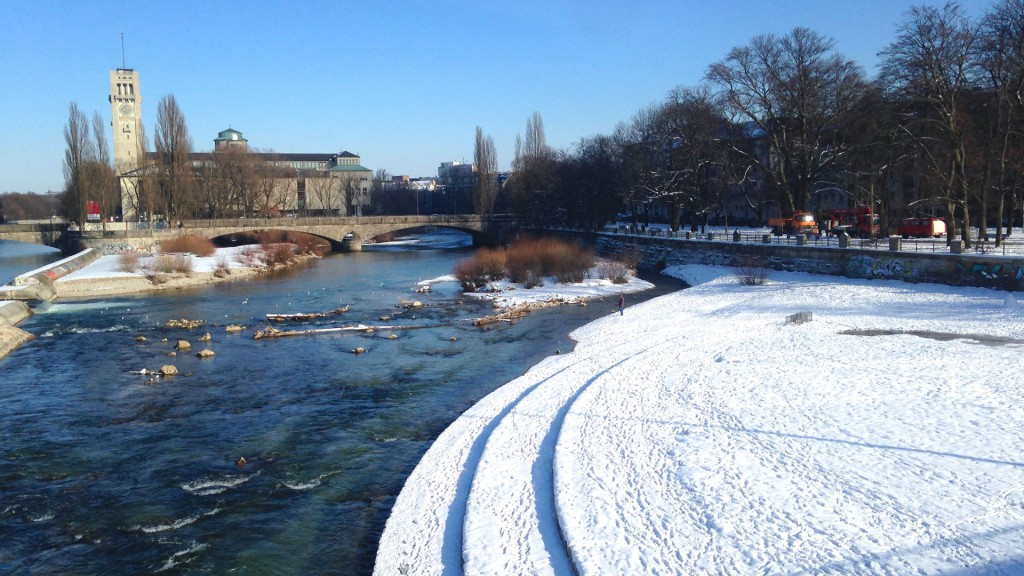 View from the Reichenbach bridge in winter