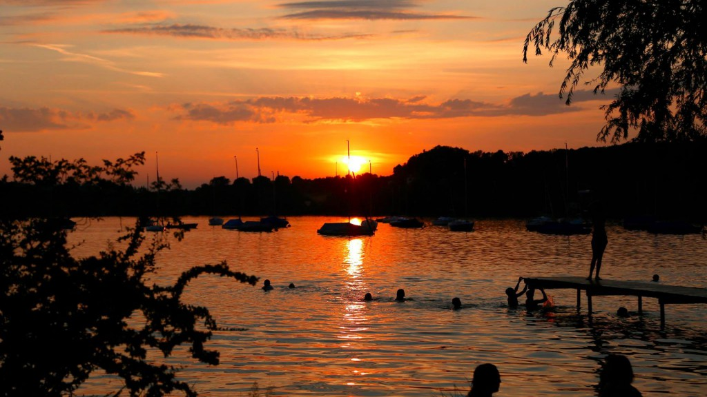 Sunset over the Wörth lake